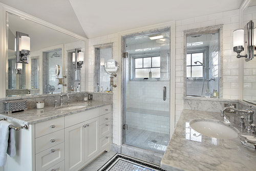 Master bath with windowed shower