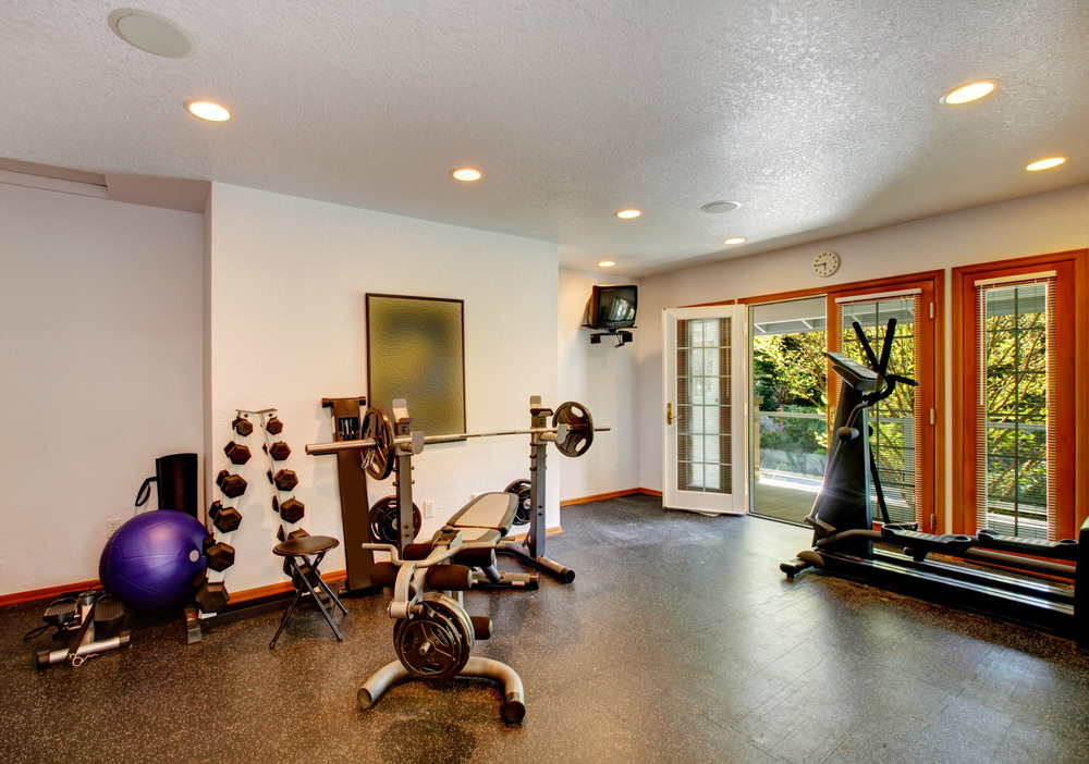 Basement Gym In Columbia MD